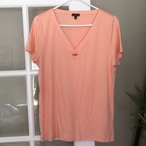 🏖Talbots  L peachy Summer ready tee🏖